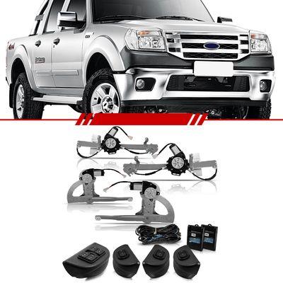 Kit-Vidro-Eletrico-Sensorizado-Ranger-1998-1999-2000-2001-2002-2003-2004-2005-2006-2007-2008-2009-2010-2011-2012-Cabine-Dupla-4-Portas-Completo