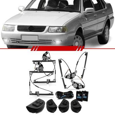 Kit-Vidro-Eletrico-Sensorizado-Santana-1998-1999-2000-2001-2002-2003-2004-2005-2006-4-Portas-Completo