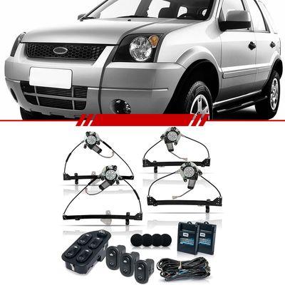 Kit-Vidro-Eletrico-Sensorizado-Ecosport-2003-2004-2005-2006-2007-4-Portas-Completo