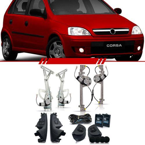Kit-Vidro-Eletrico-Sensorizado-Corsa-Hatch-2002-2003-2004-2005-2006-2007-2008-2009-2010-2011-2012-Sedan-4-Portas-Completo