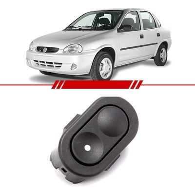 Botao-Interruptor-Simples-6-Pinos-Vidro-Eletrico-Corsa-Classic-2003-2004-2005-2006-2007-2008-2009-2010