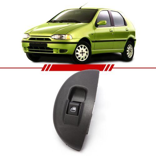 Botao-Interruptor-Simples-Vidro-Eletrico-Dianteiro-Palio-Young-2001-2002-Led-Verde-com-Moldura-Lado-Direito-Passageiro