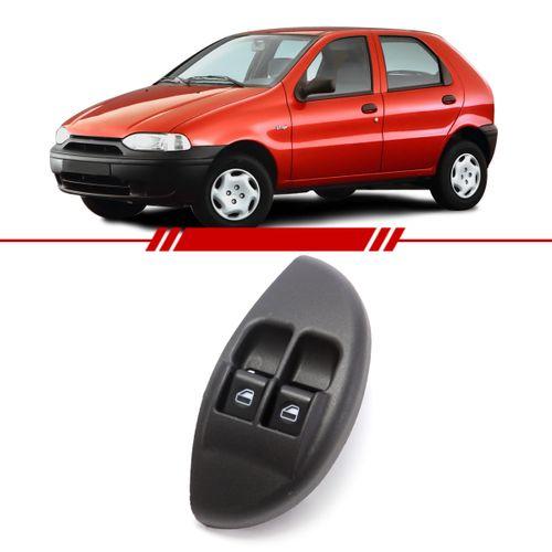 Botao-Interruptor-Duplo-Vidro-Eletrico-Dianteiro-Esquerdo-Motorista-Palio-Young-2001-2002-Led-Ambar-com-Moldura