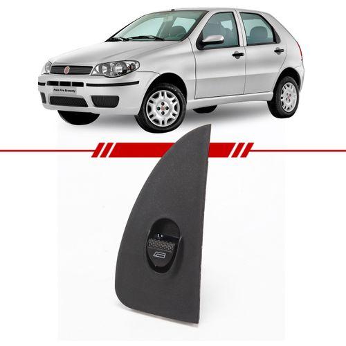 Botao-Interruptor-Simples-Vidro-Eletrico-Dianteiro-Palio-2003-2004-2005-2006-2007-2008-2009-com-Moldura-Lado-Direito-Passageiro