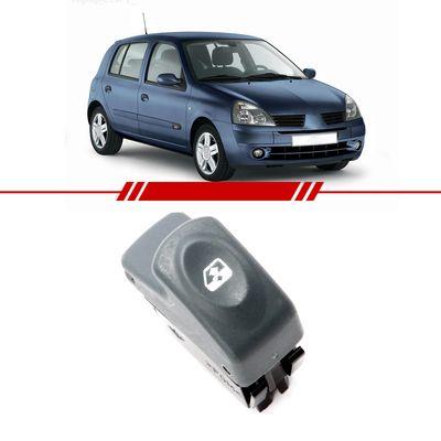 Botao-Interruptor-Simples-Vidro-Eletrico-Dianteiro-Clio-1999-2000-2001-2002-2003-2004-2005-2006-2007-2008-2009-2010-2011-2012-6-Pinos-Painel