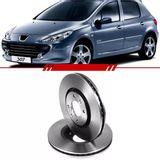 Par-Disco-de-Freio-Dianteiro-Ventilado-Peugeot-307-2001-2002-2003-2004-2005-2006-2007-2008-2009-2010-2011-2012-408-sem-Cubo