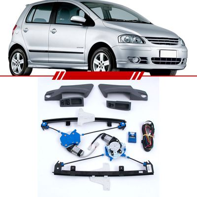 Kit-Vidro-Eletrico-Sensorizado-Cinza-Fox-2003-2004-2005-2006-2007-2008-2009-2010-4-Portas-Dianteiro
