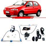Kit-Vidro-Eletrico-Sensorizado-Palio-Young-1996-1997-1998-1999-2000-2001-2002-2003-Strada-Led-Verde-2-Portas