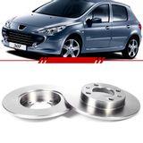 Par-Disco-de-Freio-Solido-Traseiro-Peugeot-307-2002-2003-2004-2005-2006-2007-2008-2009-2010-2011-2012-sem-Cubo