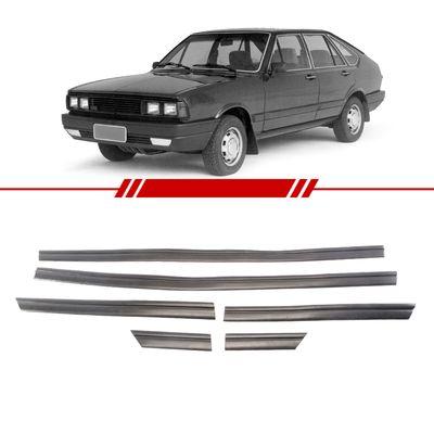 Jogo-de-Friso-Borrachao-Lateral-Preto-Passat-1980-1981-1982-1983-1984-1985-1986-1987-1988-Perfil-Baixo