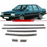 Jogo-de-Friso-Borrachao-Lateral-Preto-com-Cromado-Santana-Gl-1985-1986-1987-1988-1989-1990-4-Portas