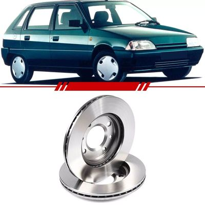 Par-Disco-de-Freio-Dianteiro-Ventilado-Citroen-Ax-1992-1993-1994-1995-Xsara-1997-1998-1999-2000-2001-2000-Zx-sem-Cubo