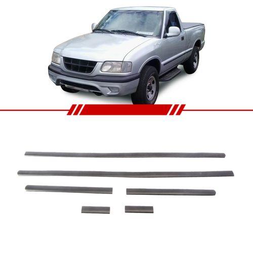 Jogo-de-Friso-Borrachao-Lateral-Preto-S10-1995-1996-1997-1998-1999-2000-Cabine-Simples