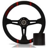 Volante-Esportivo-Easy-Driver-Vermelho-350mm-com-Cubo-Ford---Modelo-Fd-09