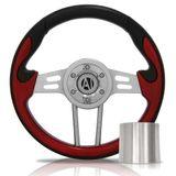 Volante-Esportivo-Lava-Vermelho-350mm-com-Cubo-Ford---Modelo-Fd-01