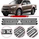 Jogo-Soleira-Resinada-de-Porta-Chevrolet-Personalizada-S10-2012-2013-2014-2015-2016-4-Pecas-Estreita-Preta