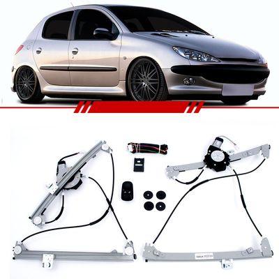 Kit-Vidro-Eletrico-Sensorizado-Peugeot-206-207-Hoggar-2008-2009-2010-2011-2012-2013-2014-4-Portas-Dianteiro
