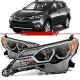 Par-Farol-Daylight-Toyota-Rav4-2013-2014-2015-Mascara-Negra-Led