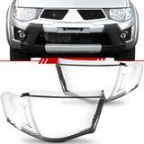 Lente-Farol-Mitsubishi-L200-Triton-2008-2009-2010-2011-Lisa-Pisca-Estriada-