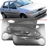 Par-Forro-de-Porta-Dianteira-Cinza-Fiesta-1996-1997-1998-1999-2001-4-Portas-Vidro-Manual