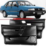 Par-Forro-de-Porta-Dianteira-Preta-Santana-1991-1992-1993-1994-1995-1996-1997-1998-com-Porta-Objeto-4-Portas-Vidro-Eletrico-e-Manual