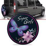 Capa-de-Estepe-Super-Girls-Doblo-Adventure-2003-2004-2005-2006-2007-2008-Aro-15-Polegadas-com-Cadeado