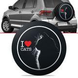 Capa-de-Estepe-Love-Cats-Crossfox-2005-2006-2007-2008-2009-2010-2011-2012-2013-2014-2015-Aro-15-Polegadas-com-Cadeado