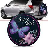 -Capa-de-Estepe-Super-Girls-Toyota-Rav4-2006-2007-2008-2009-2010-2011-2012-Aro-17-Polegadas-com-Cadeado