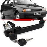 Macaneta-Externa-Preta-Porta-Dianteira-Gol-1999-2000-2001-2002-2003-2004-2005-Parati-com-Suporte-Para-Micro-Switch-2-Portas-com-Chave
