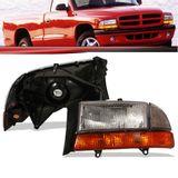 Farol-Dodge-Dakota-1997-1998-1999-2000-2001-2002-2003-com-Pisca-ambar