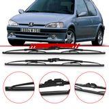 -Par-de-Palhetas-Steel-Standard-Dianteira-Peugeot-106-1991-a-2004-Limpador-de-Parabrisa-Modelo-Rodo-18-e-20-Polegadas