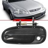 Macaneta-Externa-Preta-Porta-Dianteira-Civic-1996-1997-1998-1999-2000-com-Furo-sem-Chave