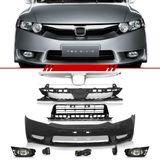 Combo-Honda-New-Civic-2007-2008-Para-2009-2010-2011-Kit-Transformacao-Dianteira