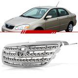 Grade-Dianteira-Corolla-e-Fielder-2005-2006-2007-2008-Xei-Cromada