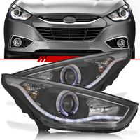 Par-Farol-Daylight-Hyundai-Ix35-2009-2010-2011-2012-2013-2014-2015-Foco-Duplo-Mascara-Negra