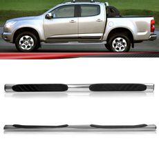 Par-Estribo-Lateral-Tubular-S10-2012-2013-2014-2015-Cabine-Dupla-Aluminio