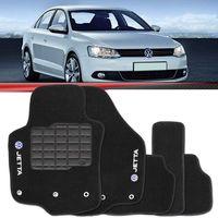 Tapete-Carpete-Personalizado-Preto-Jetta-2011-2012-2013-2014-2015-Logo-Volkswagen-Bordado-2-Lados-Dianteiro