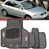 Tapete-Carpete-Grafite-Audi-A3-1997-1998-1999-2000-2001-2002-2003-2004-2005-2006-Logo-Bordado-2-Lados-Dianteiro