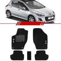 Tapete-Carpete-Preto-Peugeot-308-2010-2011-2012-2013-2014-Logo-Bordado-2-Lados-Dianteiro