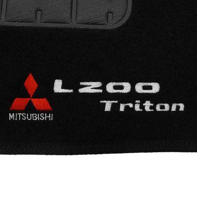 Tapete Carpete Preto L200 Triton 2008 2009 2010 2011 2012 2013 2014 ... 8389d2e3109