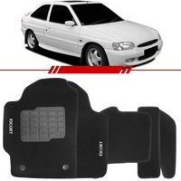Tapete-Carpete-Personalizado-Preto-Escort-1997-1998-1999-2000-2001-2002-Logo-Ford-Bordado-2-Lados-Dianteiro
