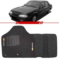Tapete-Carpete-Personalizado-Grafite-Monza-Tubarao-1991-1992-1993-1994-1995-1996-Logo-Chevrolet-Bordado-2-Lados-Dianteiro