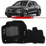 Tapete-Carpete-Preto-Audi-A1-2011-2012-2013-2014-Logo-Bordado-2-Lados-Dianteiro