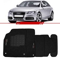 Tapete-Carpete-Grafite-Audi-A4-1998-1999-2000-2001-2002-2003-2004-Logo-Bordado-2-Lados-Dianteiro