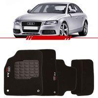 Tapete-Carpete-Personalizado-Preto-Audi-A4-1998-1999-2000-2001-2002-2003-2004-Logo-Bordado-2-Lados-Dianteiro