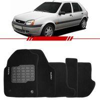 Tapete-Carpete-Preto-Fiesta-1996-1997-1998-1999-2000-2001-2002-Logo-Bordado-2-Lados-Dianteiro