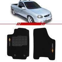 Tapete-Carpete-Personalizado-Preto-Pick-Up-Corsa-1994-1995-1996-1997-1998-1999-2000-2001-2002-Logo-Chevrolet-Bordado-2-Lados-Dianteiro