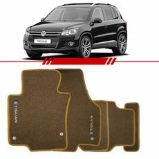 Tapete-Carpete-Personalizado-Bege-Tiguan-2009-2010-2011-2012-2013-2014-Logo-Volkswagen-Bordado-2-Lados-Dianteiro