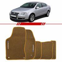 Tapete-Carpete-Personalizado-Bege-Passat-1999-2000-2001-2002-2003-2004-2005-2006-2007-2008-2009-Logo-Volkswagen-Bordado-2-Lados-Dianteiro