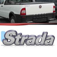 Emblema-Tampa-Traseira-Strada-1996-1997-1998-1999-2000-Cromado-Fundo-Azul